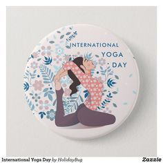 Shop International Yoga Day Button created by HolidayBug. International Yoga Day, Succulents Diy, How To Do Yoga, Where The Heart Is, Celebrations, Art Pieces, Button, Illustration, Fun