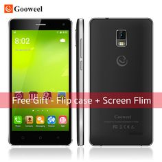 "Free Gift-Flip case Gooweel M13 Plus 4G Smartphone Android 5.1 mobile phone Quad Core 5.0"" HD screen 8MP GPS cell phone"