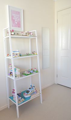 Girls Lego Storage Idea - love this idea to create shelves with roads and grass etc to store Lego for her girls This post is sponsored by Lego Friends Lego would have to be the most used toy in our home, so much so that