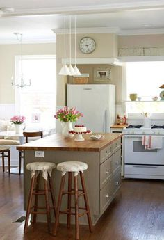 Kitchen Ideas White Cabinets kitchen ideas : decorating with white appliances / painted