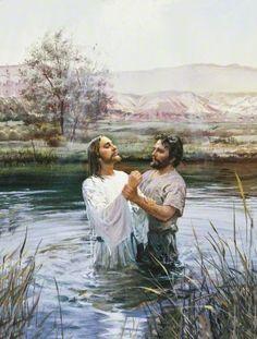 Jesus ließ sich von Johannes taufen