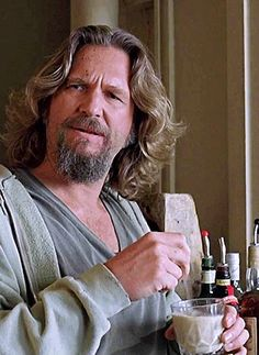 "Jeff Bridges as The Dude in ""The Big Lebowski"" Directed by Joel & Ethan Coen. The Big Lebowski, El Gran Lebowski, Jeff Bridges, 9gag Funny, Funny Gifs, Zooey Deschanel, Happy Birthday Meme, Birthday Wishes, Humor Birthday"