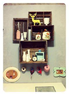 crates for shelves #shelf
