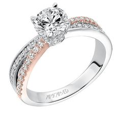 "Artcaved 0.33 Carat ""Mimi"" Bypass Two-Tone Diamond Engagement Ring · 31-V579ERR · Ben Garelick Jewelers $1750 at www.BenGarelick.com"