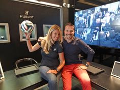 #Hublot and Emilie love football and welcome you at the freshly updated boutique in Gstaad #HublotLovesFootball #WorldCup2014