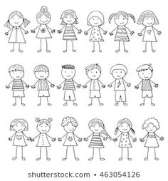 Similar images, stock photos, and vector graphics of happy cartoon doodle collec. - Similar images, stock photos, and vector graphics of happy cartoon doodle collection – 135711410 - Funny Kid Drawings, Doodle Drawings, Easy Drawings, Doodle Art, Doodle Kids, Doodle People, Funny Notes From Kids, Kids Notes, Funny Kids