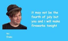 Uh huh Valentines Day Jokes, Valentine Love Cards, Valentine Images, Emo Bands, Music Bands, Pinterest Valentines, Hot Emo Boys, Fall Out Boy Songs, Teddy Day