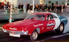 Doug Thorley rear engine(401 AMC wedge) 68 AMC Javelin Funny Car. (Randall AMC Arizona)