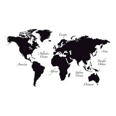 Use this stunning wall map to create a fabulous feature wall in any room in your home. With a larger than life quality, this sleek black peel and stick map decal will inspire you to plan your next trip around the globe. Comes on 1 sheet and contains 12 pieces total.