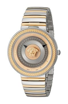 Versace V-Metal Icon VLC08 0015 (Stainless Steel/Rose Gold) Watches - Versace, V-Metal Icon VLC08 0015, VLC08 0015, Jewelry Watches General, Watches, Watches, Jewelry, Gift - Outfit Ideas And Street Style 2017