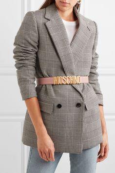 Moschino | Embellished textured-leather belt | NET-A-PORTER.COM