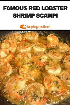 This Famous Red Lobster Shrimp Scampi seasoned to perfection with lemon juice, garlic, Italian seasoning and parmesan cheese.This Famous Red Lobster Shrimp Scampi seasoned to perfection with lemon juice, garlic, Italian seasoning and parmesan cheese. Healthy Food Recipes, Shrimp Recipes Easy, Fish Recipes, Seafood Recipes, Cooking Recipes, Shrimp And Scallop Recipes, Italian Shrimp Recipes, Cooking Bacon, Garlic Shrimp Recipes