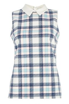 This checked top with a cute collar is under £10 in Quiz Clothing!
