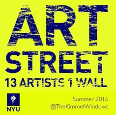 The windows of NYU's Kimmel Center are now home to a wide range of street art…