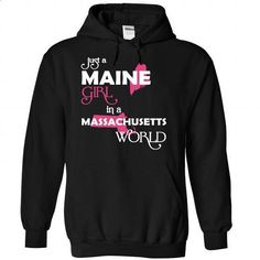 (Maine001) Just A Maine Girl In A Massachusetts World - #disney hoodie #sweatshirt jacket. I WANT THIS => https://www.sunfrog.com/Valentines/-28Maine001-29-Just-A-Maine-Girl-In-A-Massachusetts-World-Black-Hoodie.html?68278