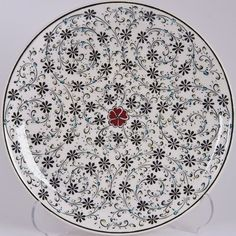 18 CM TABAK - Kültür A.Ş. Glass Ceramic, Ceramic Pottery, Pottery Art, Turkish Art, Turkish Tiles, Islamic Tiles, Islamic Art, Tile Art, Mosaic Art