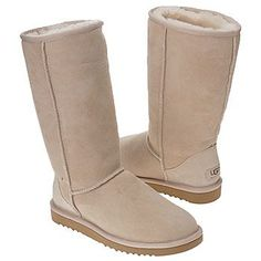 Ugg boots i have two pairs and the most comfortable things ever i have two in sand one is much older than the other but just as comfortable and i wear them everywhere