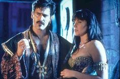 Bruce Campbell as Autolycus in XENA:  THE WARRIOR PRINCESS
