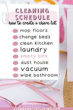 Do you dream of having a clean house, but have no idea where or how to start? A cleaning schedule or to do list is the ultimate answer, and we explain exactly how to make your own that really works for you. PLUS get your FREE printable deep cleaning checklist to get started! Home Organisation Tips, Organization Hacks, Organizing, Deep Cleaning Checklist, Cleaning Hacks, Clean My House, Declutter Your Life, Saving Tips, Make It Simple