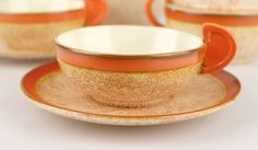 Georg Schmider Art Deco Bauhaus Design Tea Set Style of Marianne Brandt | From a unique collection of antique and modern tea sets at https://www.1stdibs.com/furniture/dining-entertaining/tea-sets/