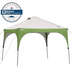 Get to the fun faster with the Coleman 10 x 10 Canopy Sun Shelter Tent. You'll have 100 square feet of UPF sun protection in no time, perfect for use as a covered dining tent at the campsite or tailgate.