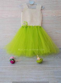 Tutù dress -Party Dress -  abito tutù -Abito bambina o neonata ad  uncinetto e tulle