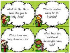 KS2 Christmas Quiz Task Cards