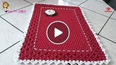 Crochet Placemats, Crochet Videos, Home Decor Bedroom, Doilies, Diy And Crafts, Projects To Try, Kids Rugs, Stitch, Pattern