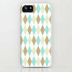 Harlequin Print in Seascape iPhone & iPod Case