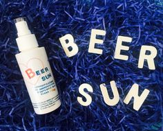 BEER SUN-lotion natural spray to craft beer scented with essential oils of grapefruit and bitter orange