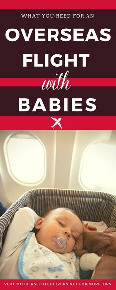 "Anxious about your upcoming long haul flight with Baby? Read ""How to Make the Best of an Overseas Flight with Babies"" and get your FREE CARRY-ON CHECKLIST so you don't forget a thing! 