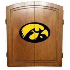 University of Iowa Hawkeyes Dart Board Cabinet Case