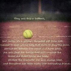 Love this. Most of G's friends are softball girls that are learning the skills for real life.