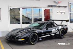 Our friends in Switzerland at Zumac AG fit this C5 Corvette Z06 track car on these 18-inch Forgeline GZ3R wheels finished in Satin Black. See more at: http://www.forgeline.com/customer_gallery_view.php?cvk=985  #Forgeline #GZ3R #notjustanotherprettywheel #C5 #Corvette #Z06