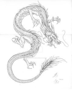 Asian Dragon Tattoo by BrokenRapture781 on DeviantArt