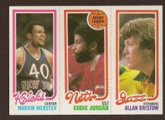 1980-81 Topps #152 172 Marvin Webster / 155 Eddie Jordan TL / 239 Allan Bristow #NBA #Topps #eBay #auction