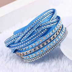 New Unisex Multilayer Leather Bracelet Christmas Gift Charm Bracelets Vintage Jewelry For Women
