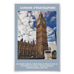 Poster Big Ben London #TravelPorn