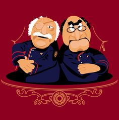 Saul Tigh & Admiral Adama as muppets