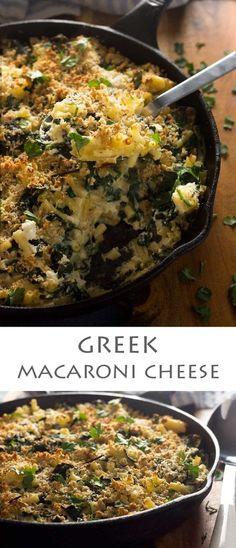 Really easy Greek macaroni cheese