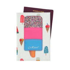 Lollies Ice Cream Applique Passport Holder