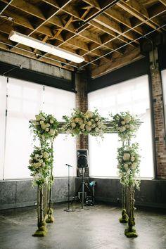 Stunning ceremony decor: http://www.stylemepretty.com/2015/02/06/urban-meets-romantic-portland-wedding/ | Photography: Aaron Courter - aaroncourter.com