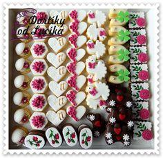 Svatební cukroví :: Dortíky od Lucíka Donut Recipes, Cake Recipes, Meringue Cookies, Sugar Cookies, Sweet Bar, Czech Recipes, Yummy Cakes, Biscotti, Cookie Decorating