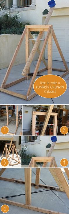 So fun! a DIY pumpkin chunkin' catapult! You know you want to try this!