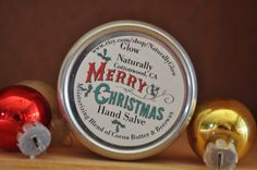 Limited Edition Merry Christmas Hand Salve by NaturallyGlow on Etsy https://www.etsy.com/listing/207536442/limited-edition-merry-christmas-hand