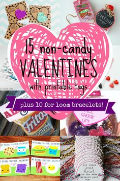 Remodelaholic | 25 Candy-Free Valentines and Printables (including loom bracelets!)