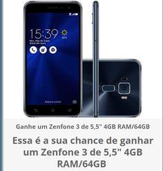"""Ganhe um Zenfone 3 5,5"""" 4GB RAM/64GB memória interna https://wn.nr/R2QHP7"""