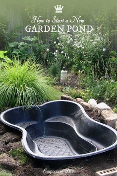 Tips for Starting a Small Garden Pond What to know before you build a garden pond. Tips for inground and above ground fish ponds.What to know before you build a garden pond. Tips for inground and above ground fish ponds. Small Backyard Ponds, Ponds For Small Gardens, Outdoor Ponds, Backyard Ideas, Small Patio, Back Yard Pond Ideas, Plants For Ponds, Outdoor Fountains, Walkway Ideas