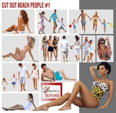Free Cut-out beach people #1, I hope to have done something pleasing ^ - ^ . Download here http://www.sketchuptexture.com/2014/08/free-cut-out-beach-people-1.html