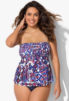 0035cef36c7 Buy Folly Smocked Tankini at SwimSuitsForAll.com. Easy returns and  exchanges. Check out